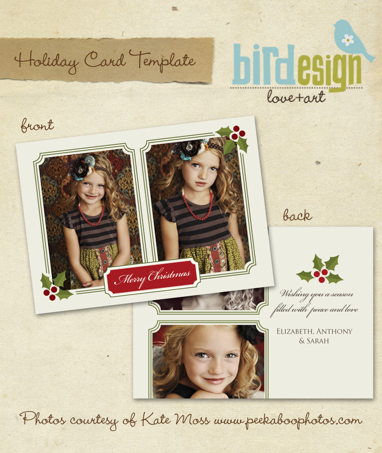 Holiday Photocard Template | Classic Christmas