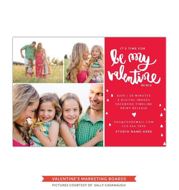 Photography Marketing board | Valentine's confetti