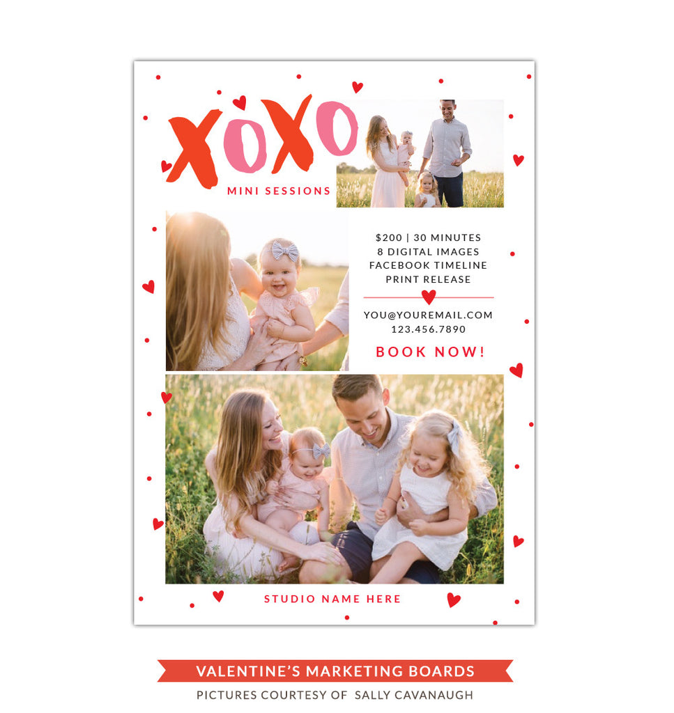 Photography Marketing board | Pink xoxo