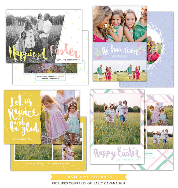 Easter photo cards bundle | Be glad