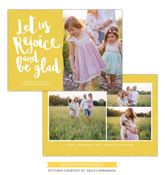 Easter photo card | Let us rejoice