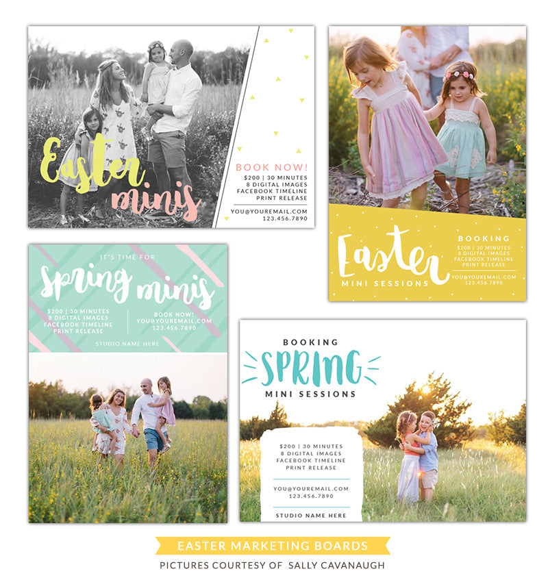 Photography Marketing boards | Easter time