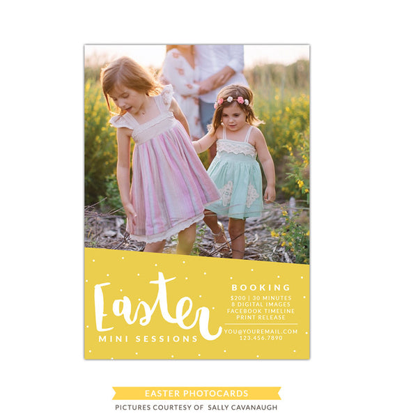Photography Marketing board | Yellow Easter