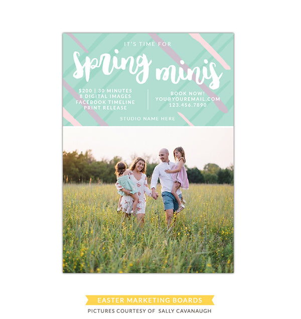 Photography Marketing board | Pastel spring