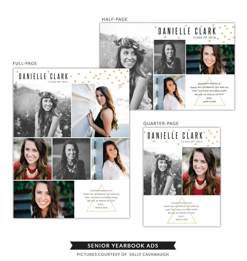 Senior Yearbook Ads | Danielle