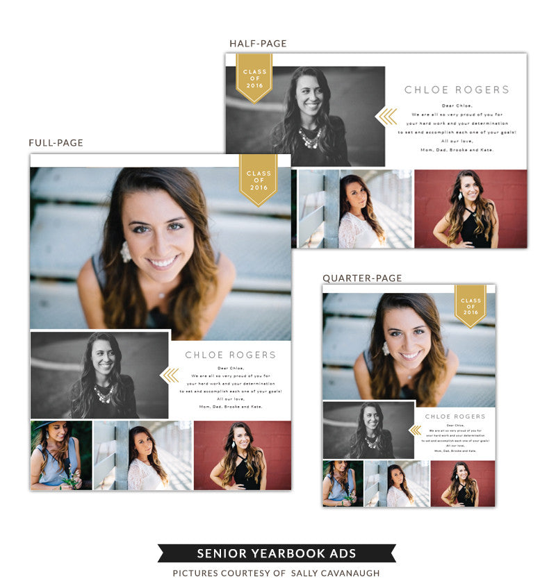 Senior Yearbook Ads | Mag style
