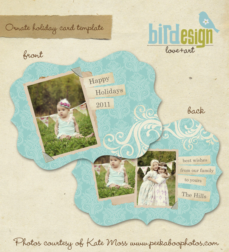 Holiday Ornate Photocard | Hills