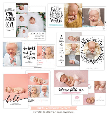 Birth Announcements bundle | Little explorers