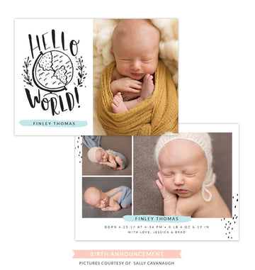 Birth Announcement | Hello hello