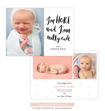Birth Announcement | Finally here