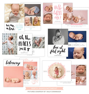 Birth Announcements bundle | Lovely babies