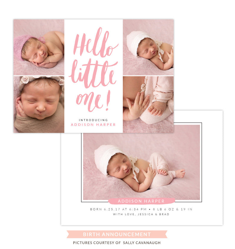 Birth Announcement | Hello little one