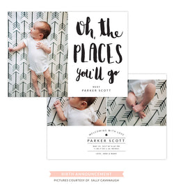 Birth Announcement | The places you'll go