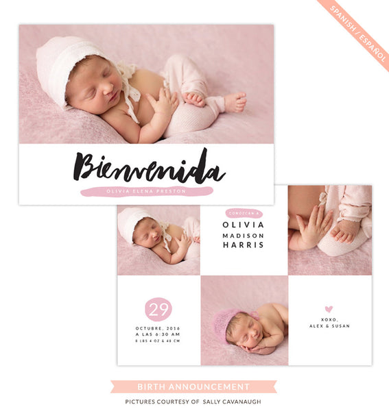 Birth Announcement - Spanish | Bienvenida
