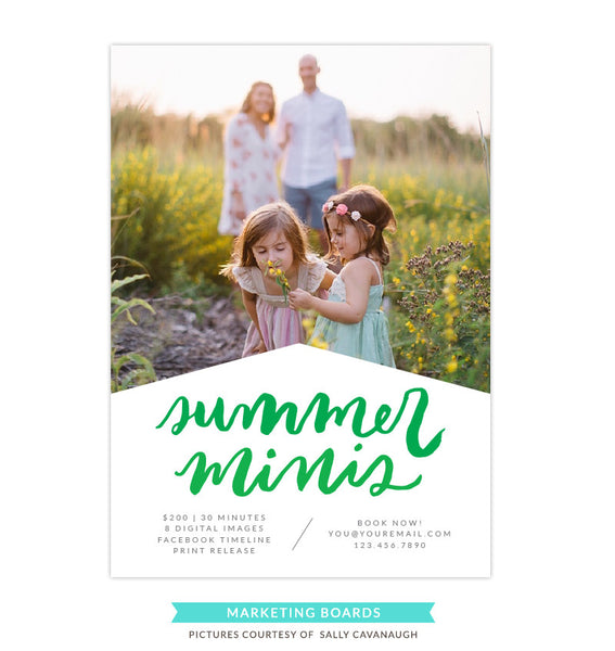 Photography Marketing board | Green summer