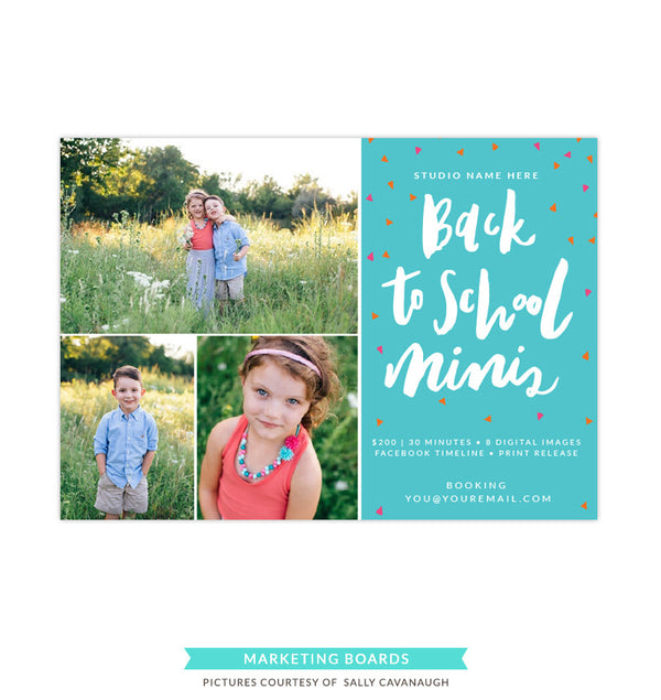Photography Marketing board | Back to school