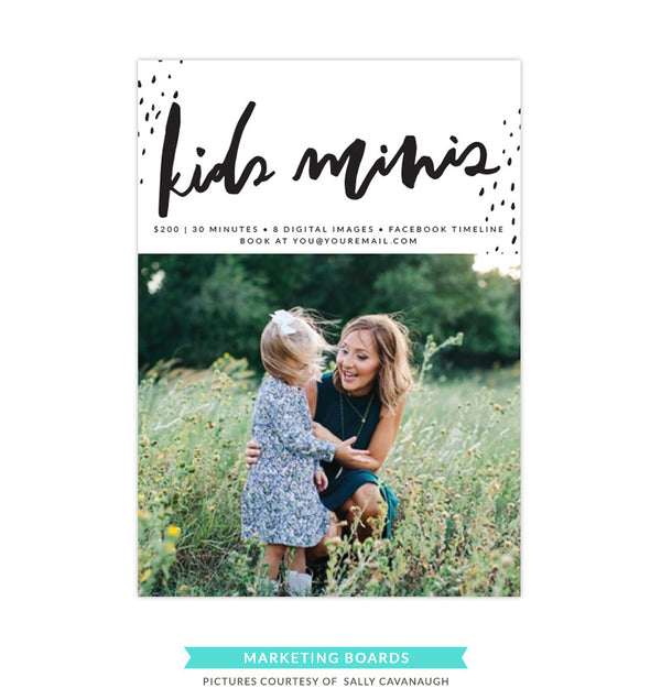 Photography Marketing board | Kids minis