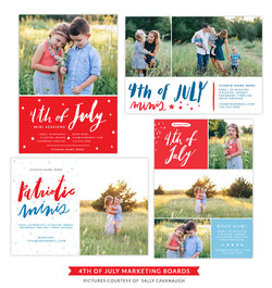 4th of July Marketing boards | Blue stars