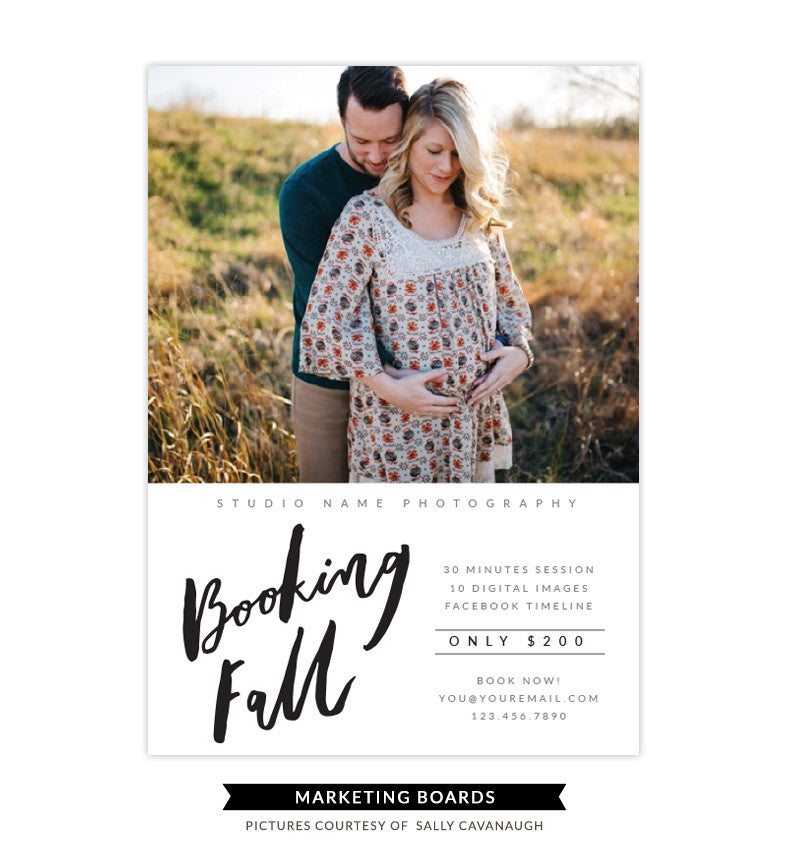 Fall Minis Marketing board | Booking Fall