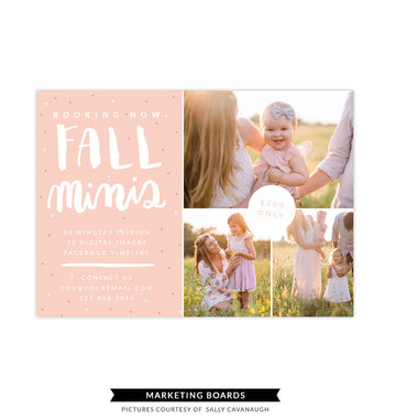 Fall Minis Marketing board | Peaches and Fall