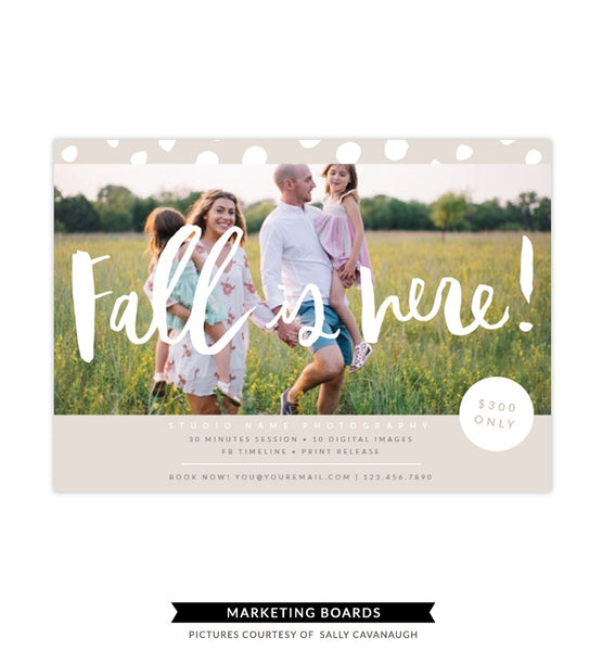 Fall Minis Marketing board | Diamond Fall