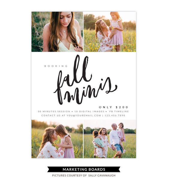 Fall Minis Marketing board | Touch of Fall