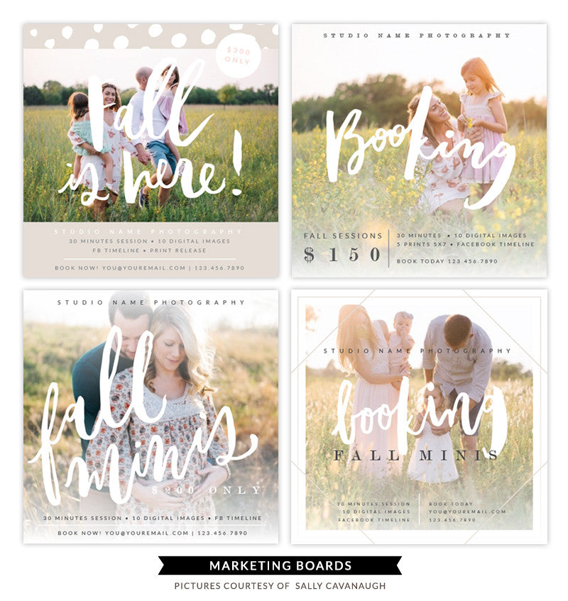 Fall Marketing boards bundle | Fall Square Minis