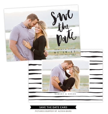 Save the Date card | Silver Glitter