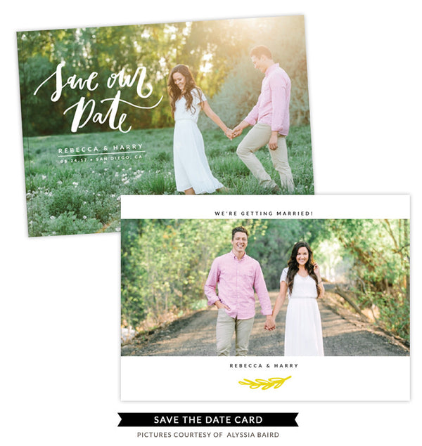 Save the Date card | Wedding Garden