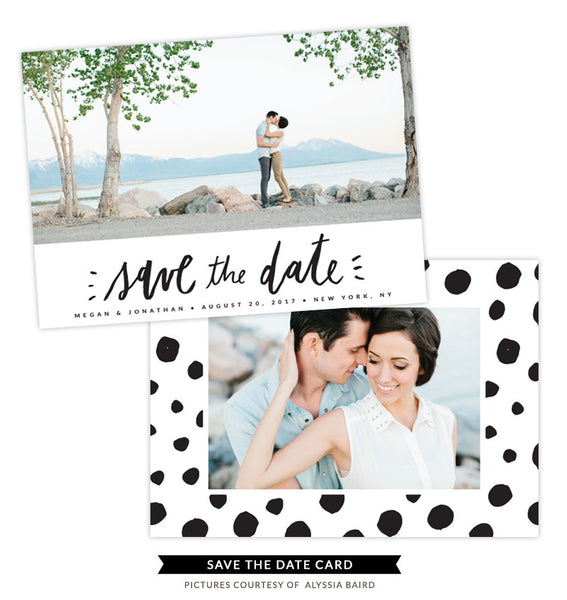 Save the Date card | Dotted Love