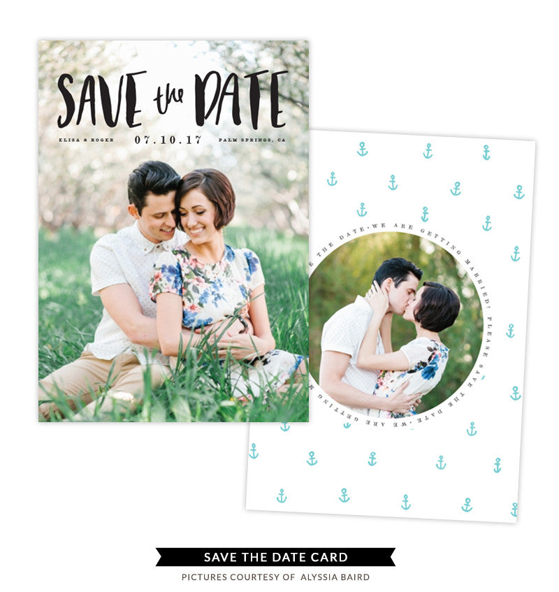 Save the Date card | Vintage Pearl