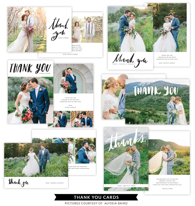 Thank You Cards bundle | White Flowers