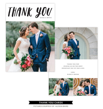 Thank You Card Template | Couple's Love