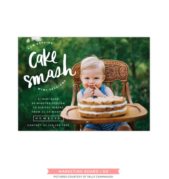 Cake Smash Marketing Board | Giant Cake