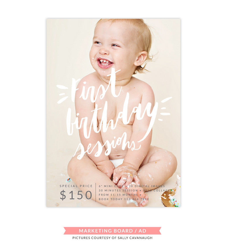 Cake Smash Marketing Board | Buttercream Laugh