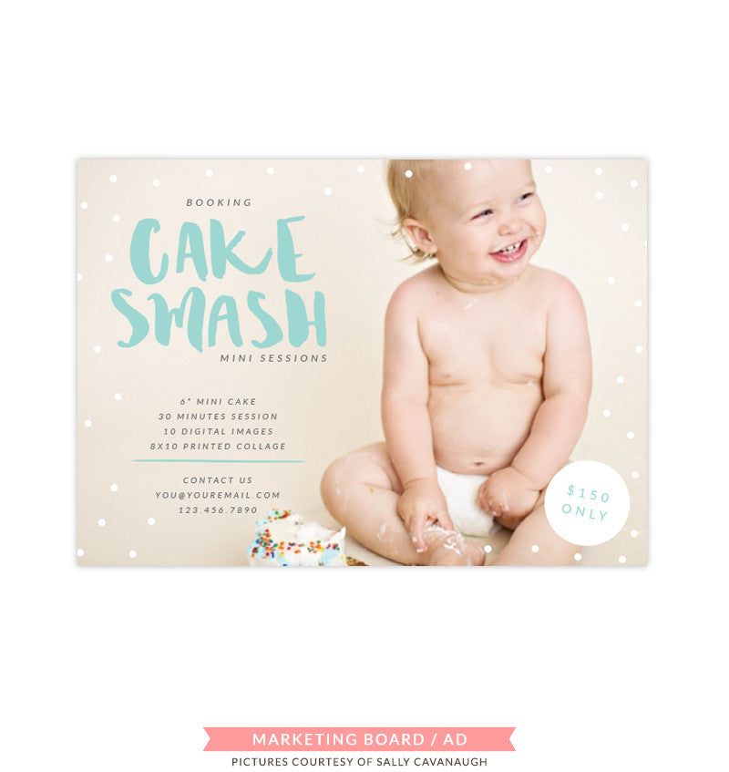 Cake Smash Marketing Board | Candy Topping