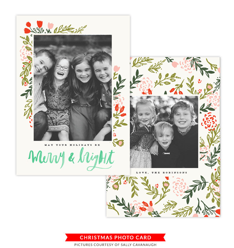 Christmas Photocard Template | Gingerbread Smiles