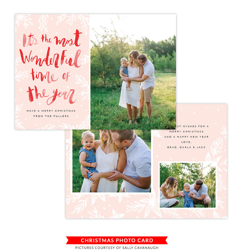 Christmas Photocard Template | Christmas Eve Laughter