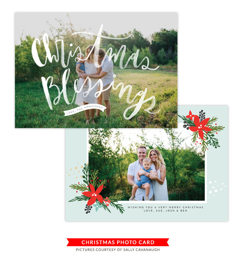 Christmas Photocard Template | Mistletoe Kiss