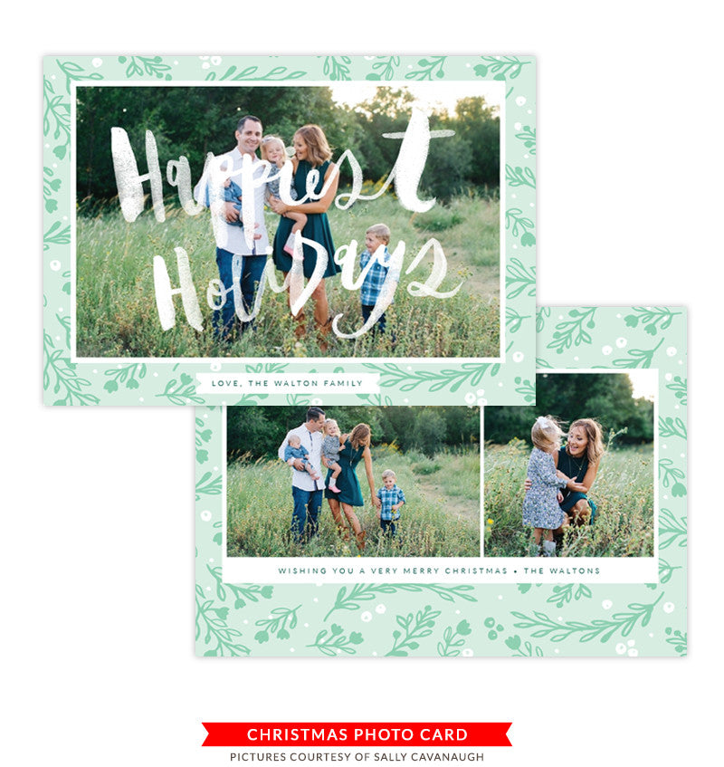 Christmas Photocard Template | Holiday Syrup