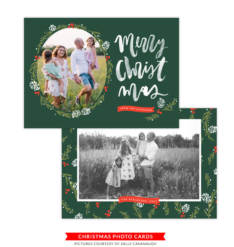 Christmas Photocard Template | Drummers Drumming