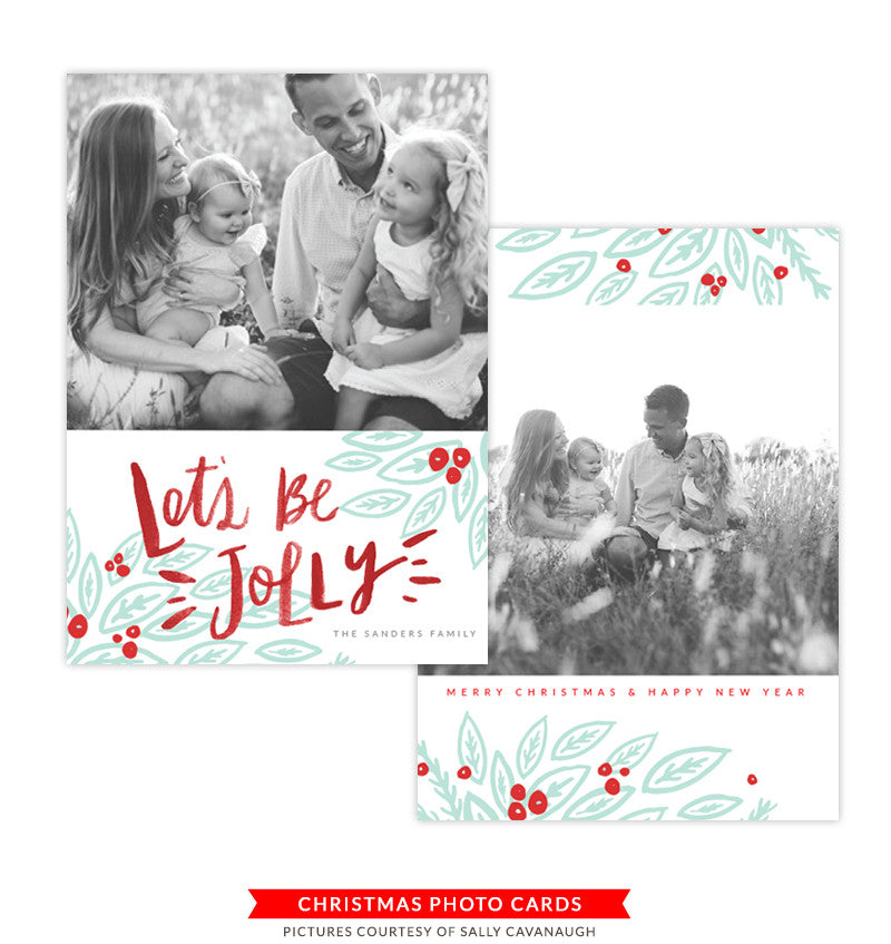 Christmas Photocard Template | Wishes & Laughter