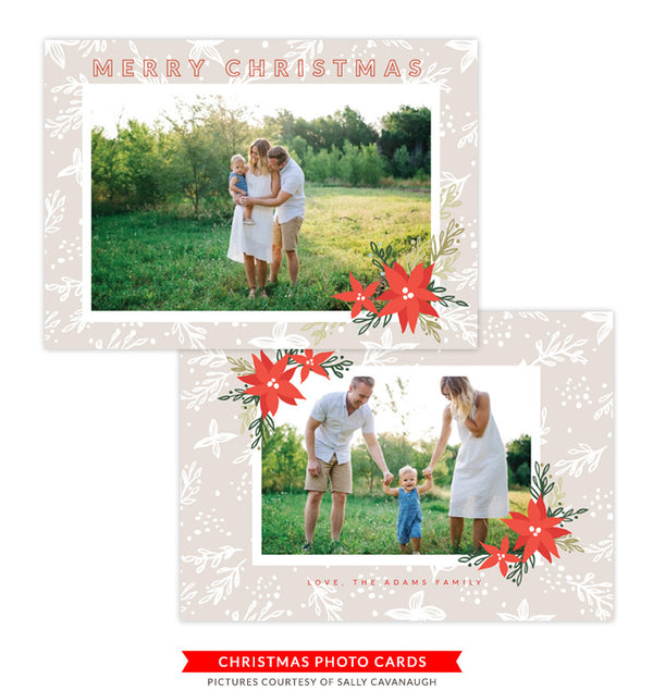 Christmas Photocard Template | Faith & Hope