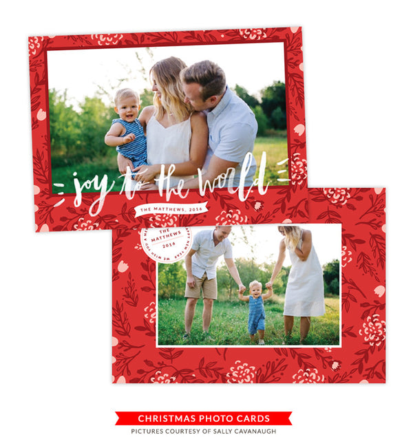 Christmas Photocard Template | Christmas Carol