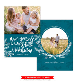 Christmas Photocard Template | Little Christmas