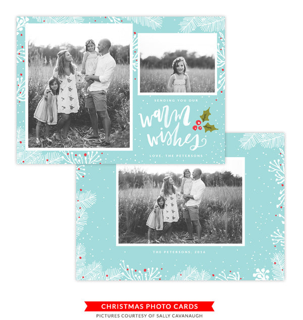 Christmas Photocard Template | Calling Birds