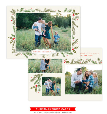 Christmas Photocard Template | Holiday Blessings