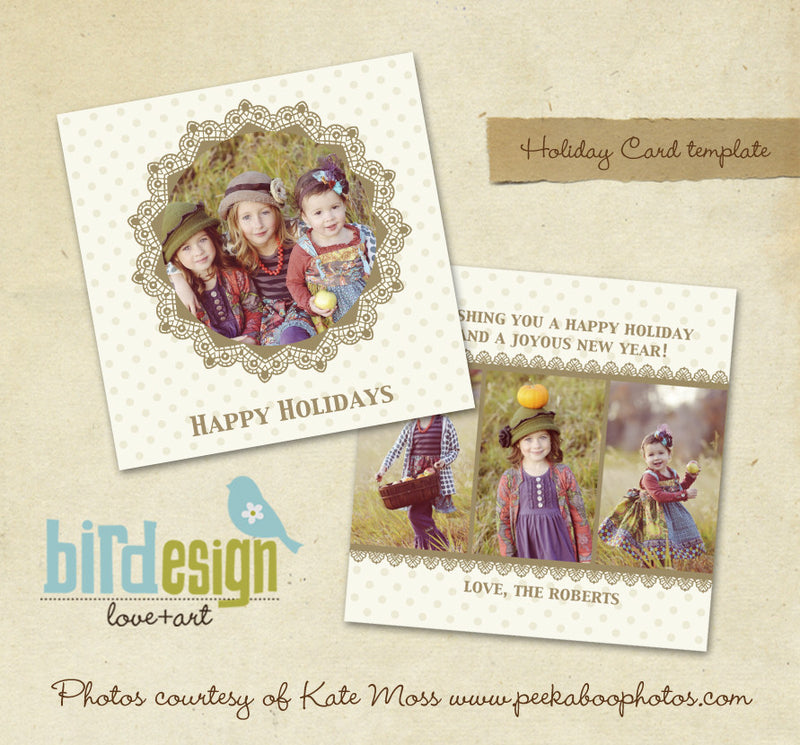 Holiday Photocard Template | Gold Christmas
