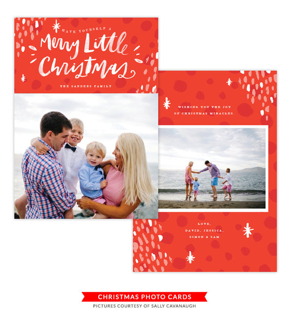 Christmas Photocard Template | Little Celebrations