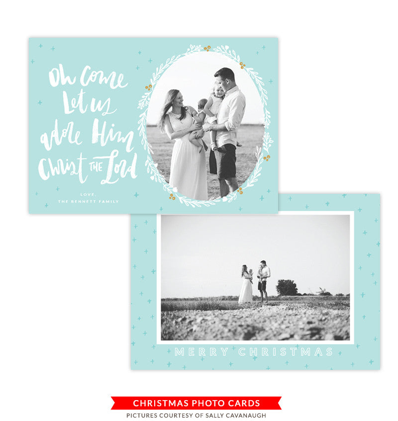 Christmas Photocard Template | Sounding Joy